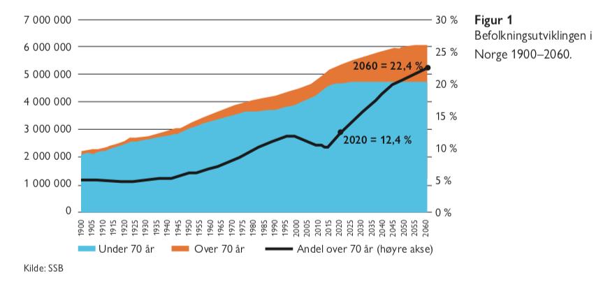 Figur 1 - eldrebølgen i et nytt perspektiv - Samfunn og økonomi